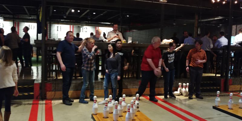 Employee Bonding with a Bowling team tournament