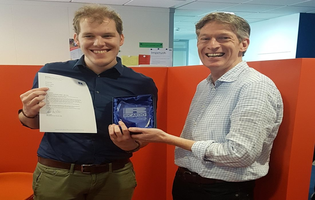 Benjamin Stobbe recieved the Exceptional Contribution Award