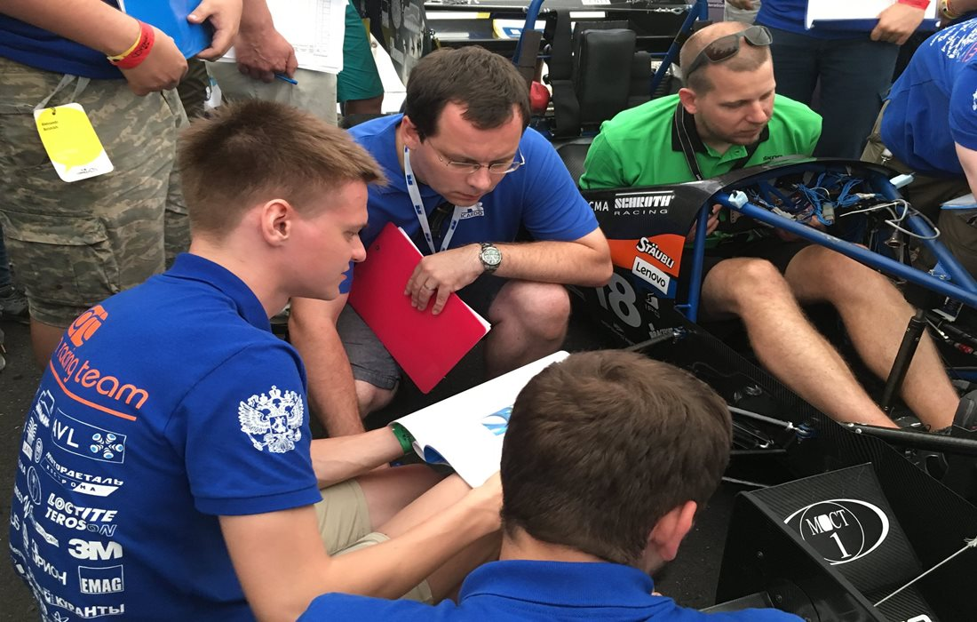 Judging at the Czech Formula Student competition