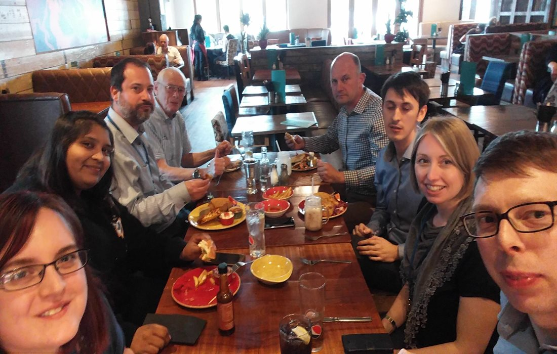 It's not all work... our Derby-based Rail Infrastructure team took time out yesterday for a team lunch.