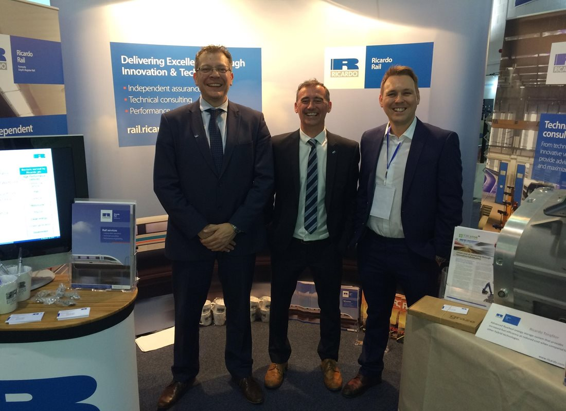 Ricardo's rolling stock experts at the RVE expo